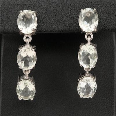 Sterling Silver Prasiolite Earrings