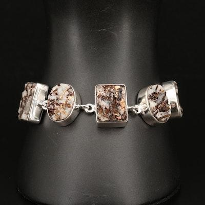 Sterling Silver Muscovite Bracelet