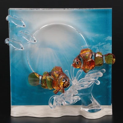 """Swarovski """"Harmony"""" Wonders of the Sea Crystal Figurine, 2005"""
