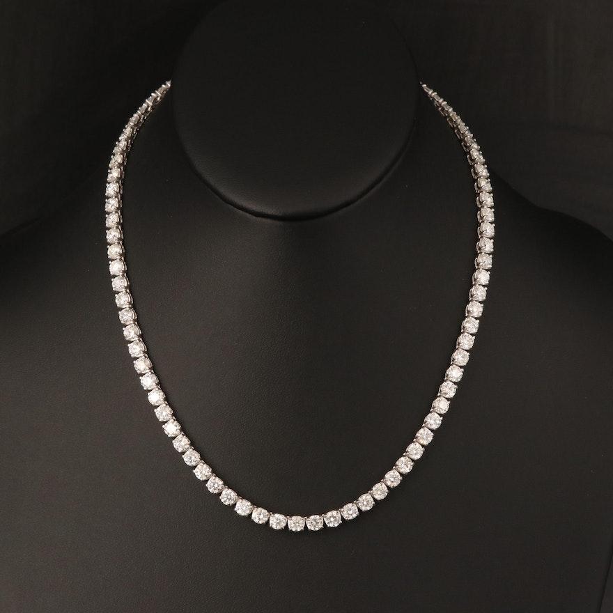 14K 26.58 CTW Diamond Rivière Necklace