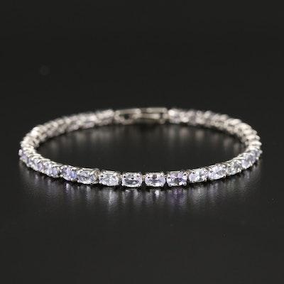 Sterling Tanzanite Line Bracelet