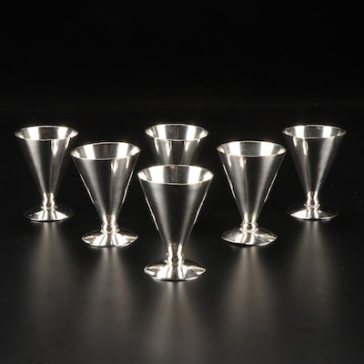 Mid Century Modern Style Sterling Silver Cocktail Glasses, Mid-Late 20th Century