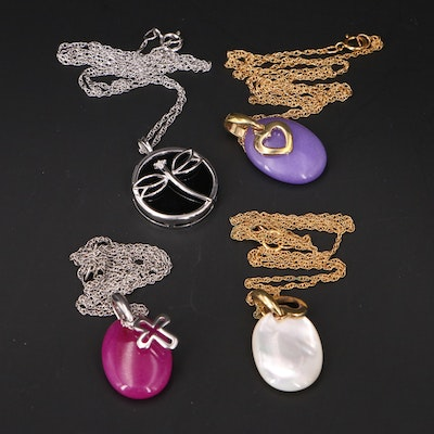 Sterling and Gold-Filled Diamond and Gemstone Pendant Necklaces
