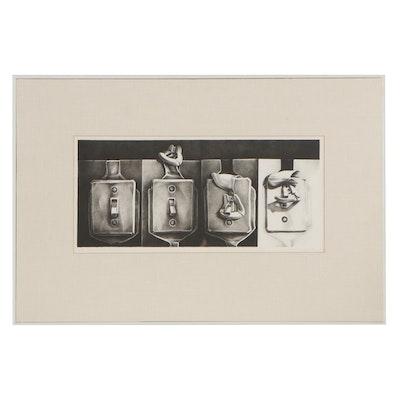 "Charles Massey Jr. Lithograph ""Skyhook Start, Progression,"" 1972"