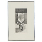 """Charles Massey Jr. Lithograph """"Skyhook Package, Search,"""" 1972"""