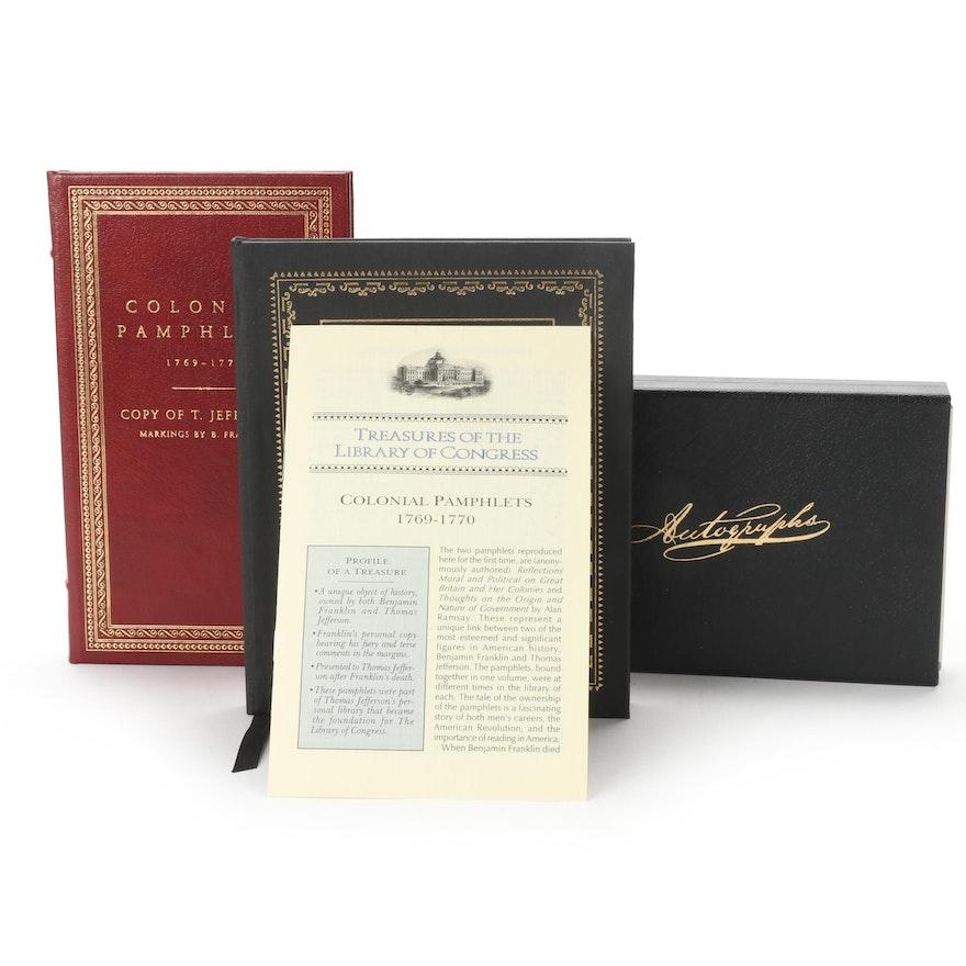 "Easton Press Facsimile ""Treasures of the Library of Congress"" Books"