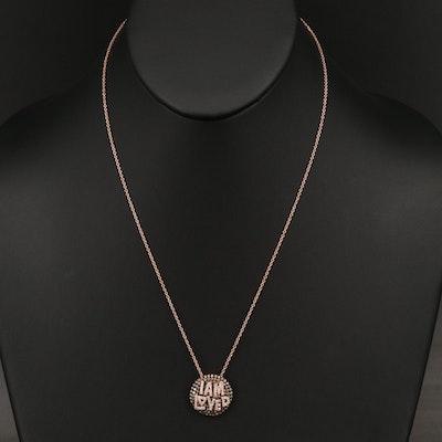 EFFY 14K ROSE GOLD DIAMOND, ESPRESSO DIAMOND, PENDANT
