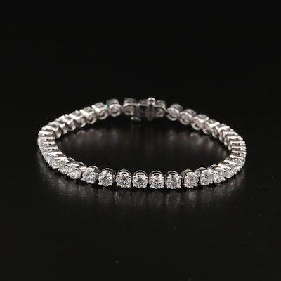 14K 10.00 CTW Diamond Line Bracelet with IGI Report