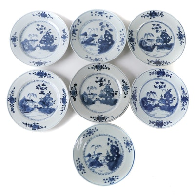Chinese Export Porcelain Plates, Antique