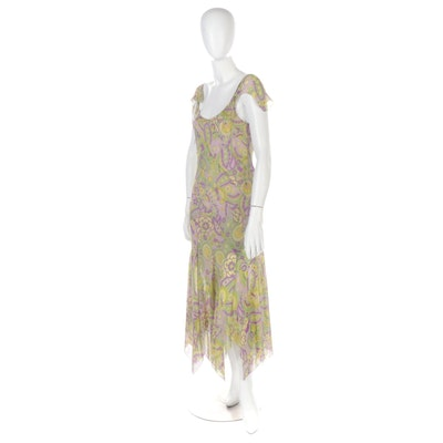 Mi Me Silk Georgette Handkerchief Dress