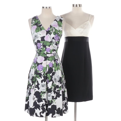 Talbots Oprah Magazine Collection and Ann Taylor Black/White Cocktail Dresses