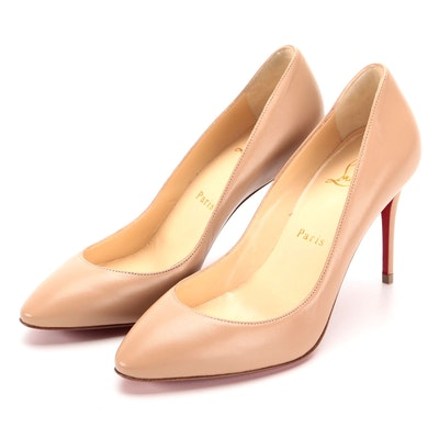 Christian Louboutin Eloise 85 Pumps in Beige Nappa Leather with Box