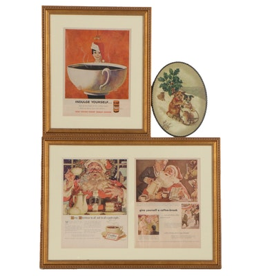 Christmas Themed Advertisements for Sanka Coffee and More