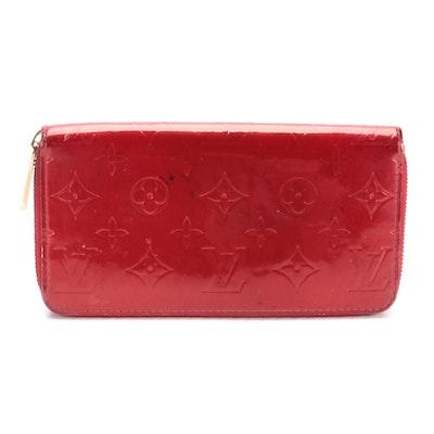 Louis Vuitton Zippy Wallet in Pomme D'Amour Monogram Vernis Leather