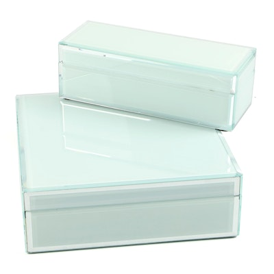 American Atelier Glass Cased Jewelry Boxes
