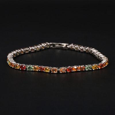 Sterling Sapphire Link Bracelet