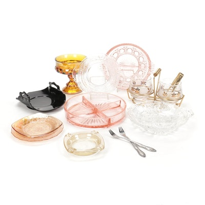 Depression Glass, Carnival Glass and Mid Century Modern Tablewares