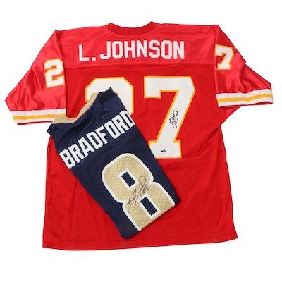 Larry Johnson and Sam Bradford Signed Jerseys, COAs