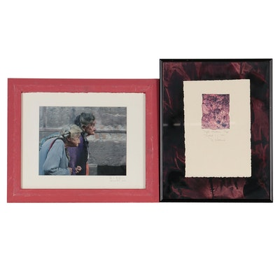 Digital Photograph and Mixed Media Print, Late 20th Century