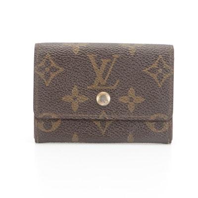 Louis Vuitton Porte Monnaie Plat Coin Purse in Monogram Canvas