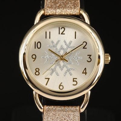 Snowflake Dial Quartz Wristwatch
