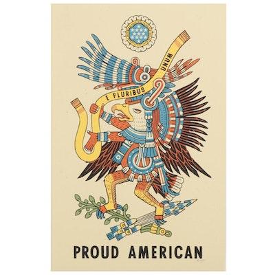 "Ravi Zupa Serigraph ""Proud American,"" 2020"