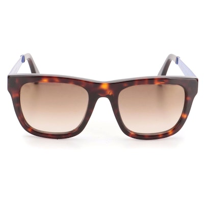 Cutler and Gross 1180 Square Sunglasses in Dark Tortoise and Metallic Finish