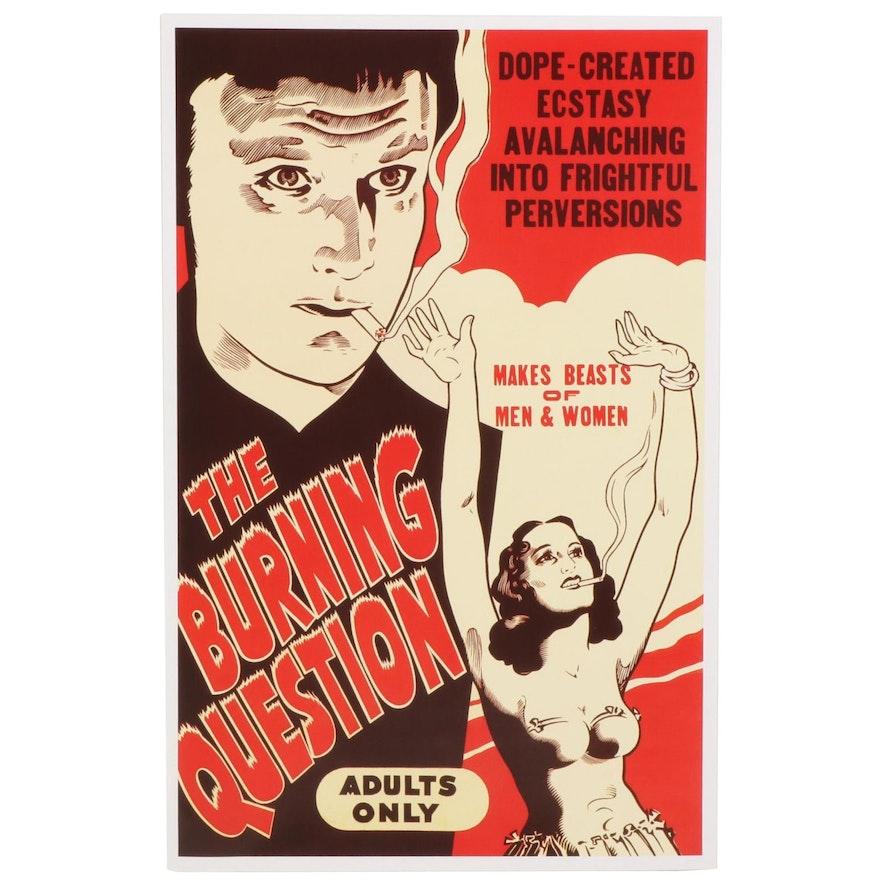 "Marijuana Propaganda Film Giclée ""The Burning Question""/""Reefer Madness"""
