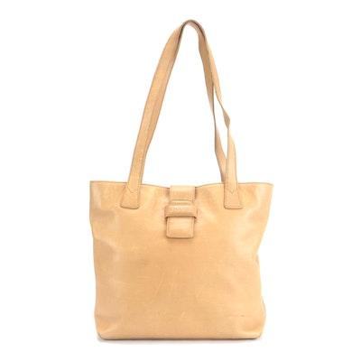 Chanel Shoulder Bag in Beige Leather