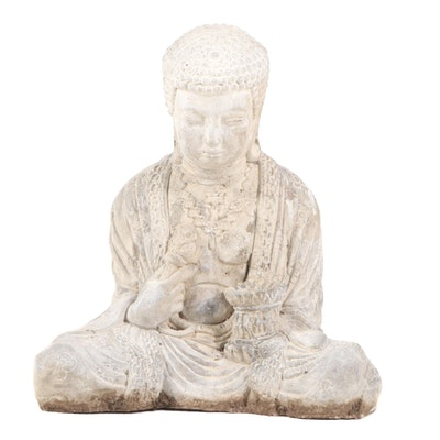 Cast Concrete Buddha Garden Statue