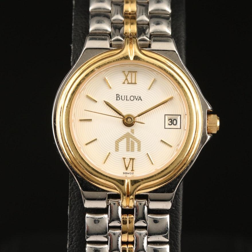 Two Tone Bulova with Date Wristwatch