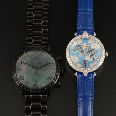 """Judith Ripka """"Swallows"""" and Diamonique """"The Huxley"""" Wristwatches"""