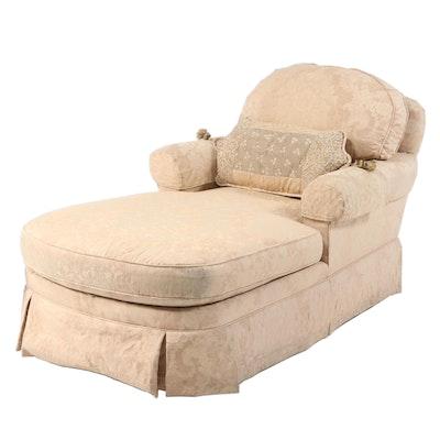 Ethan Allen Custom-Upholstered Chaise Lounge