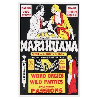 "Marijuana Propaganda Film Giclée ""Marihuana,"" 21st Century"