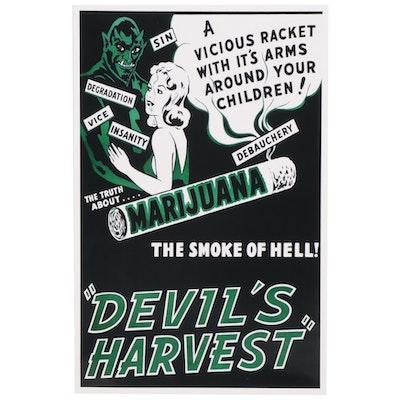 "Marijuana Propaganda Film Giclée ""Devil's Harvest,"" 21st Century"