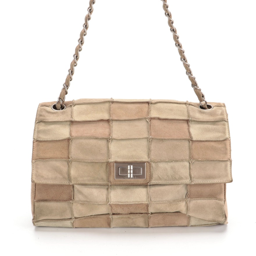 Chanel Reissue Flap Front Bag in Tonal Brown Quilted Patchwork Pattern