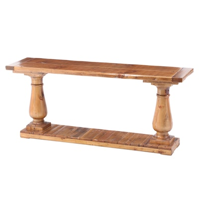 """Timothy Oulton for Restoration Hardware Salvaged Pine """"Balustrade"""" Console Table"""