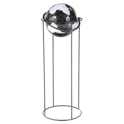 Spherical Concepts Inc. Acrylic Globe on Metal Stand, dated 1991