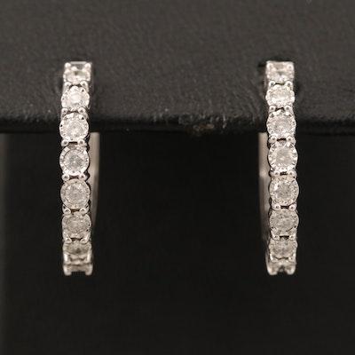 EFFY 925 SILVER DIAMOND EARRINGS