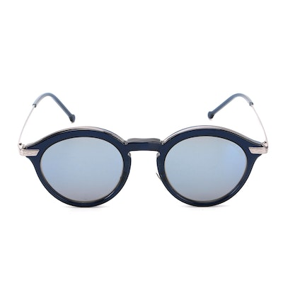Cutler and Gross Blue Frame Sunglasses with Case