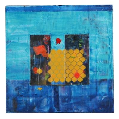 "Mark Whitmarsh Acrylic Painting ""Bumble,"" 2019"