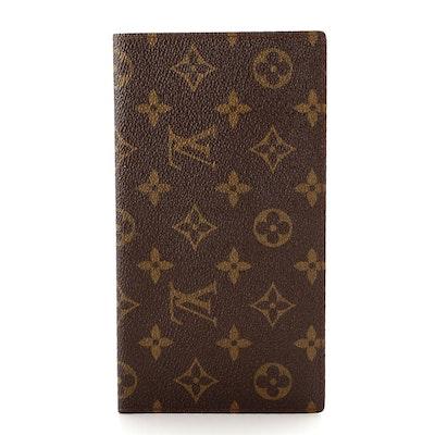 Louis Vuitton Long Wallet in Monogram Canvas