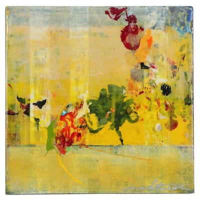 "Mark Whitmarsh Acrylic Painting ""Divine Garden 211,"" 2020"