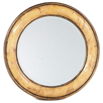 Husk-Decorated and Gilt Composite Mirror