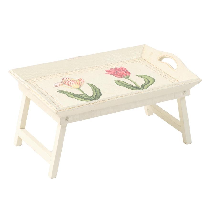 Paint-Decorated Folding Breakfast Tray
