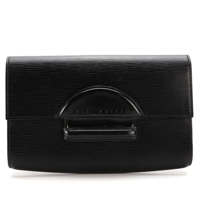 Louis Vuitton Chaillot Clutch in Black Epi Leather