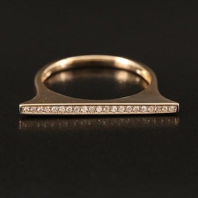 EFFY 14K YELLOW GOLD DIAMOND RING