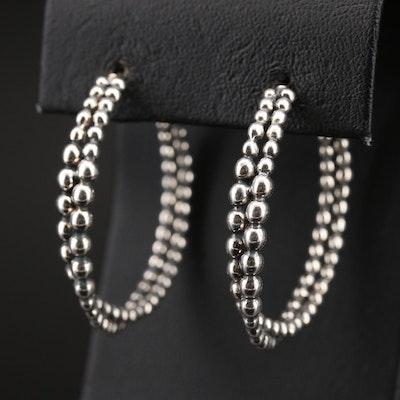 Michael Dawkins Sterling Crossover Hoop Earrings