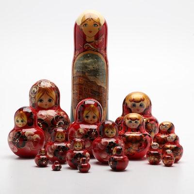 Hand-Painted Russian Matryoshka Nesting Dolls
