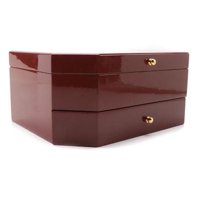 Jere High Gloss Wood Finish Jewelry Box
